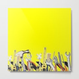 Yellow Tools Metal Print