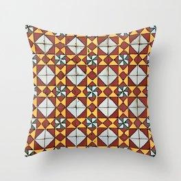 Floor Series: Peranakan Tiles 16 Throw Pillow