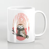 winter Mugs featuring Winter Owl by Freeminds