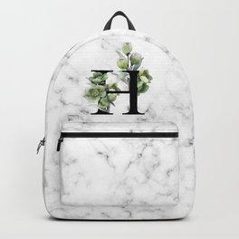 Letter 'H' Helleborus Flower Typography Backpack
