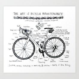 The Art of Bicycle Maintenence Art Print