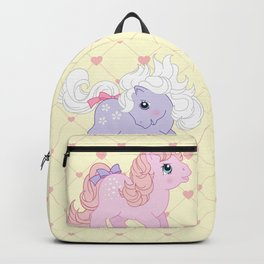 g1 my little pony babies Cotton Candy and Blossom Backpack