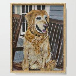 Zildjian Golden Retriever Dog portrait Serving Tray