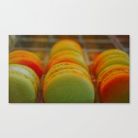 macarons Canvas Prints featuring Macarons by Chee Sim