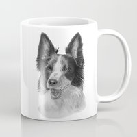 border collie Mugs featuring Border collie by Doggyshop