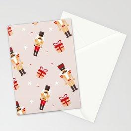 Christmas nutcracker pattern Stationery Cards