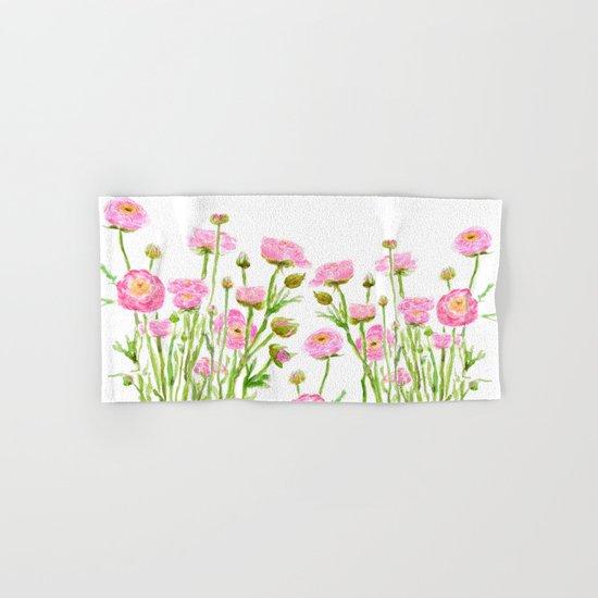 pink  ranunculus Hand & Bath Towel