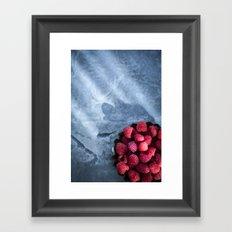 Sunlight and Raspberries Framed Art Print