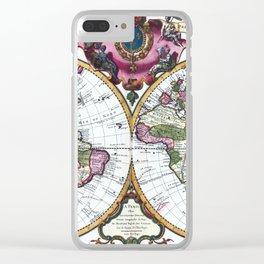 World map wall art 1720 dorm decor mappemonde Clear iPhone Case