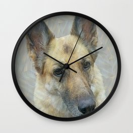 Unconditional Love Holly German Shepard Wall Clock