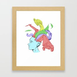 A Creative Mind Framed Art Print