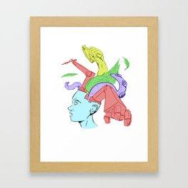 A Creative Mind Framed Art Print
