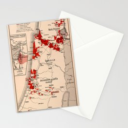 Map Of Palestine 1926 Stationery Cards