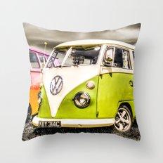VW campervan's Throw Pillow