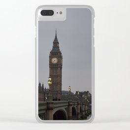 Grey day in Westminster Clear iPhone Case