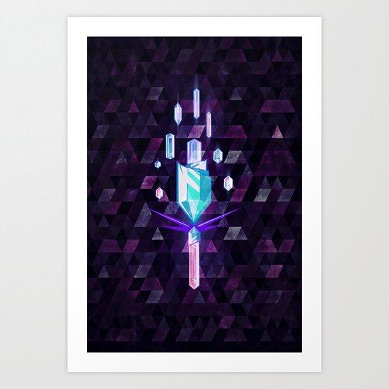 crystyl tyrrch Art Print