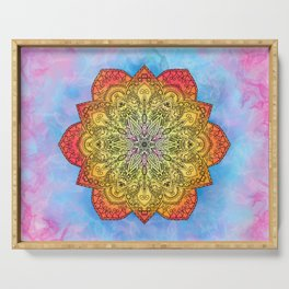 Fire mandala Serving Tray