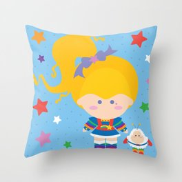 Rainbow Brite Throw Pillow