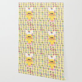 Easter Chick with Bunny Ears Wallpaper