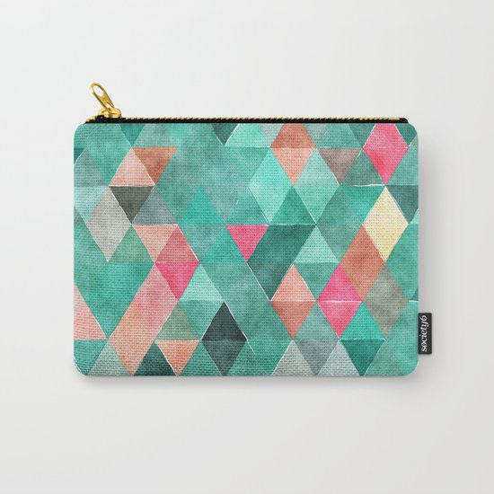 Retro Triangles Pattern 03 Carry-All Pouch