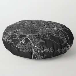 San Francisco Black Map Floor Pillow