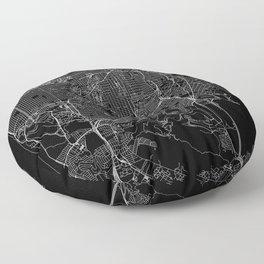 San Francisco Black Map Floor Pillow