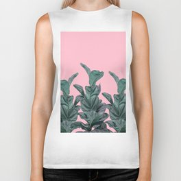 Rubber trees with pink Biker Tank
