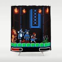 oz Shower Curtains featuring 8-Bit Oz by Meteo Designs