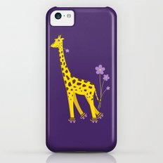 Funny Giraffe Roller Skating Slim Case iPhone 5c