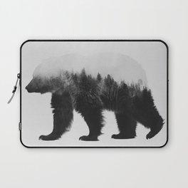 Brown Bear (black & white version) Laptop Sleeve