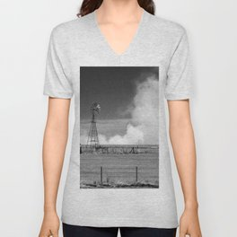 Fires in cultivated fields. Unisex V-Neck