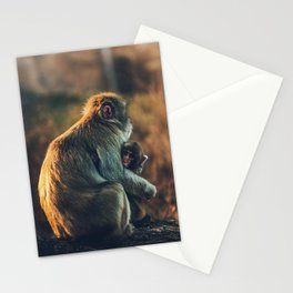 Macaque Motherly Love Stationery Cards