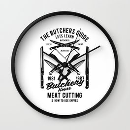 the butchers guide Wall Clock