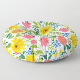 Spring Burst 2 (Floral Pattern)  Floor Pillow