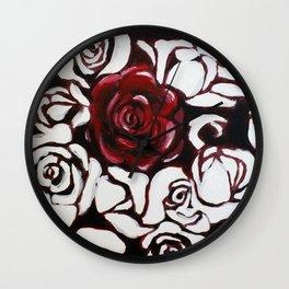 War of Roses Painting Wall Clock