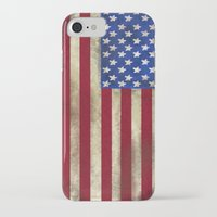 american flag iPhone & iPod Cases featuring American Flag by Jason Michael
