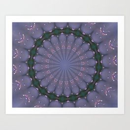 BUTTERFLIES AND BEADS IN PURPLE Art Print