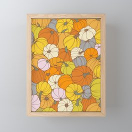 Colorful Fall Pumpkins  Framed Mini Art Print