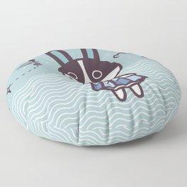 Rabbit Dotty Animal Villager | illustration Floor Pillow
