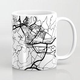 FLORENCE ITALY BLACK CITY STREET MAP ART Coffee Mug