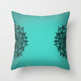Henna inspired motif Throw Pillow