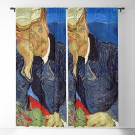 Vincent Van Gogh - Portrait of Dr Gachet Blackout Curtain