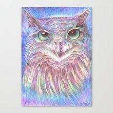 Vivid Owl Canvas Print