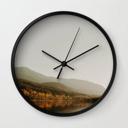 The Faded Forest on a River (Color) Wall Clock