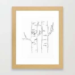 tree love, me and you Framed Art Print