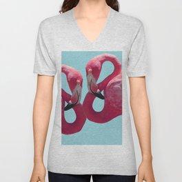 C13D Pink Flamingoes Unisex V-Neck