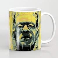 frankenstein Mugs featuring Frankenstein by nicebleed