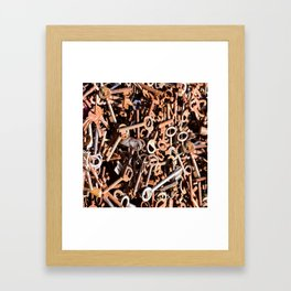 skeleton key Framed Art Print