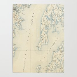 Vintage Annapolis MD & Chesapeake Bay Map (1902) Poster