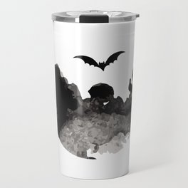 Primitive Halloween Moon Phase Travel Mug
